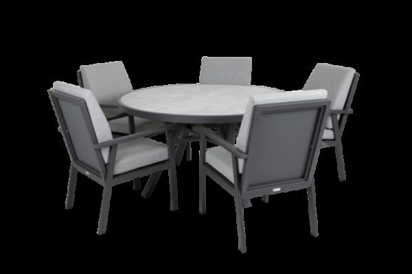 SAMVARO black Садовая мебель обеденная set 1