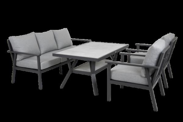SAMVARO black Садовая мебель обеденная set 2