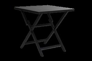 WILKIE black Стол садовый 72х72 Brafab