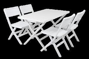 WILKIE white Садовая мебель 4 персоны Brafab