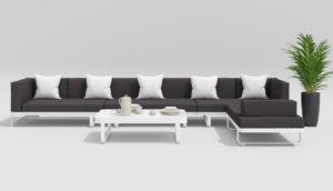 HACIENDA Садовая мебель алюминиевая белый антрацит