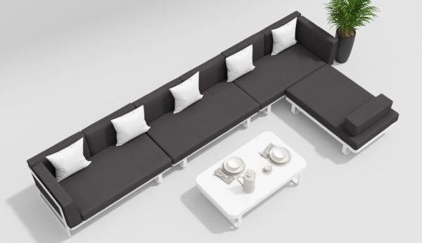 HACIENDA Садовая мебель белый антрацит