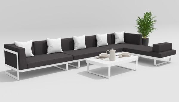 HACIENDA Садовая мебель для отдыха белый антрацит
