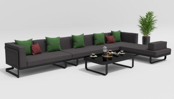 HACIENDA Садовая мебель для отдыха карбон антрацит