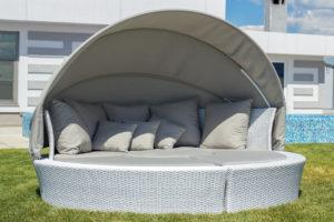 Лежак с крышей Green Day серый