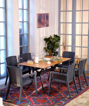 Modus 6 grey Комплект садовой мебели