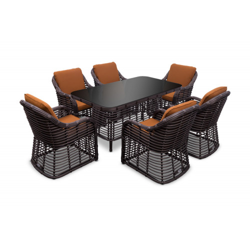 Плетеная мебель Bliss dining set 6