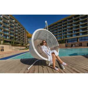 "Подвесное кресло ""Santorini"" sky lounge white"
