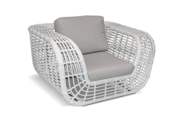 Savanna white Кресло из искусственного ротанга