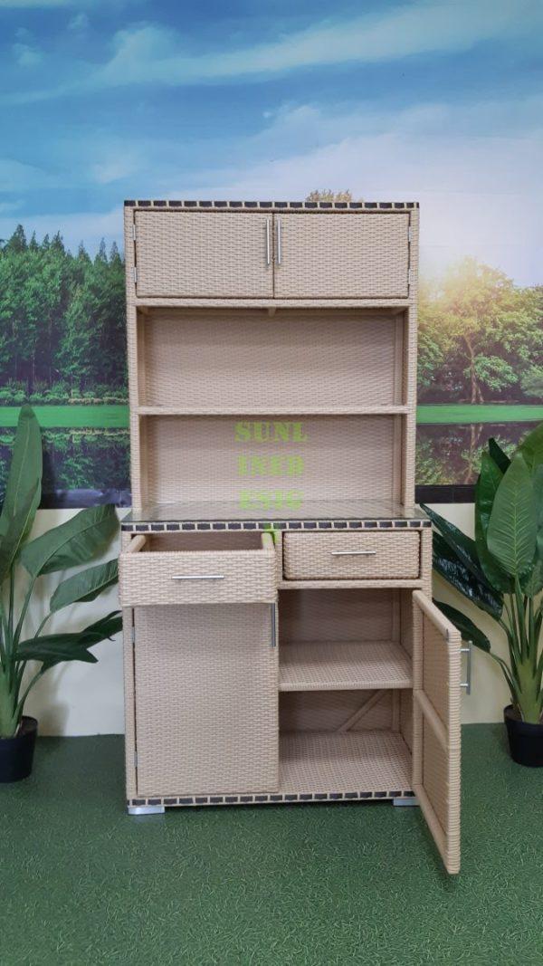 Aura шкаф садовый из ротанга