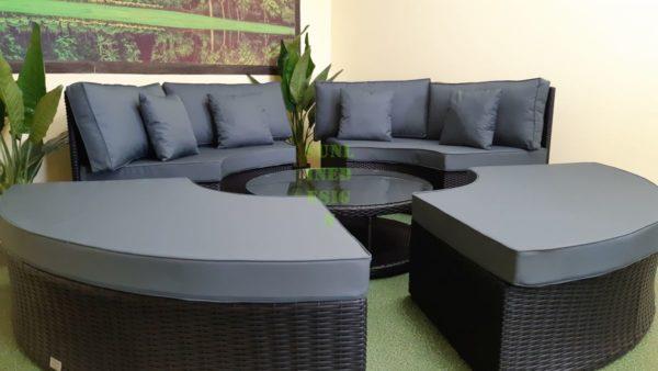 Matrix black grey Мебель из искусственного ротанга