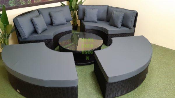Matrix black grey Садовая мебель ротанг