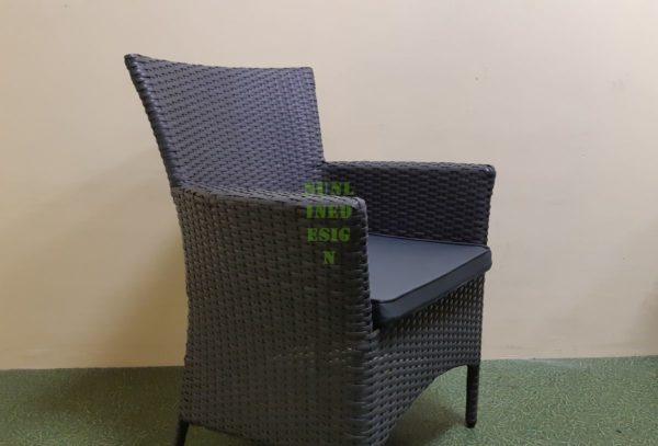 Nina grey Кресло плетеное
