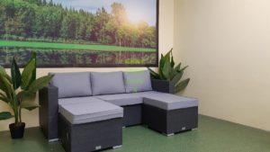 Nina grey Мебель из искусственного ротанга