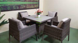 Фото-Rocket brown Плетеная мебель set 4