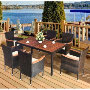 """Плетеная мебель """"VALENCIA"""" brown 6 + 150"""