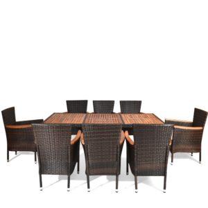 VALENCIA Brown 8 Плетеная мебель столовая