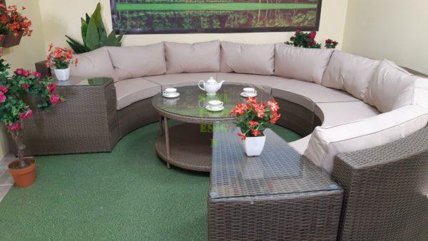 ELectra brown beige set 1 Плетеная мебель