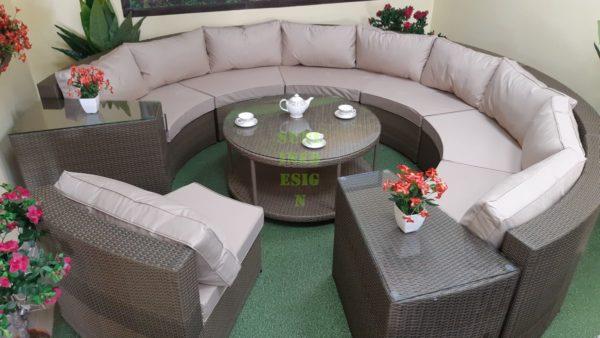 ELectra brown beige set 2 лаунж мебель из искусственного ротанга