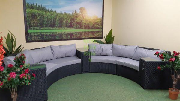 Lyra производство круглых диванов на террасы