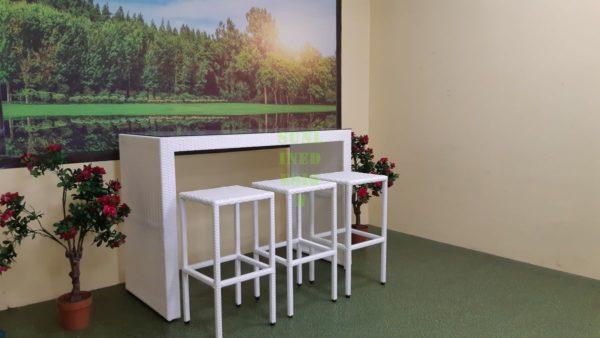 Barista white Барная плетеная мебель