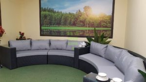 Polaris 180 Набор плетеной мебели круглый диван